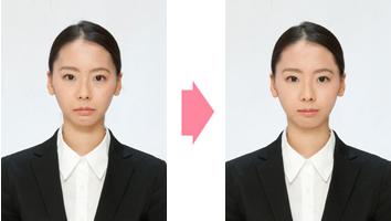 就職活動証明写真のイメージ